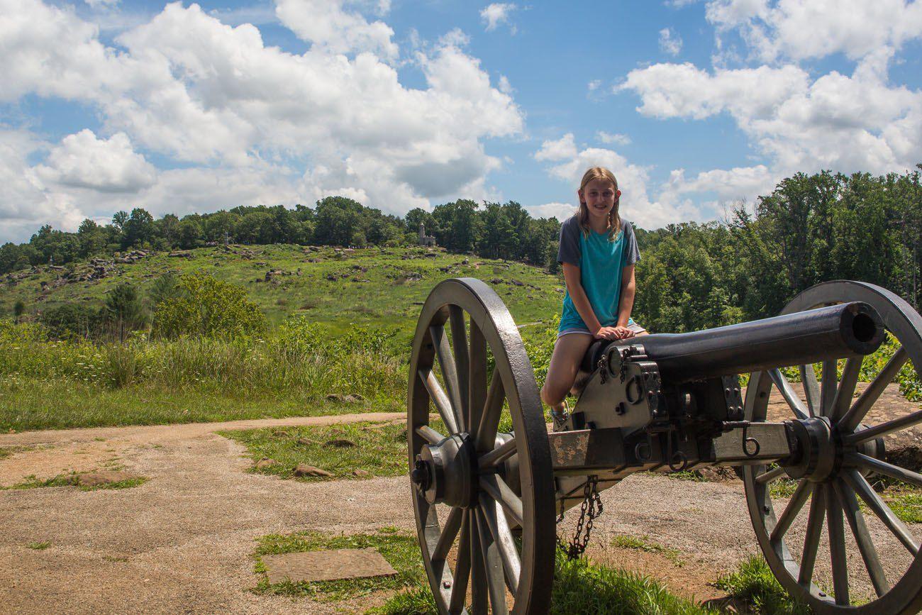Kara in Gettysburg