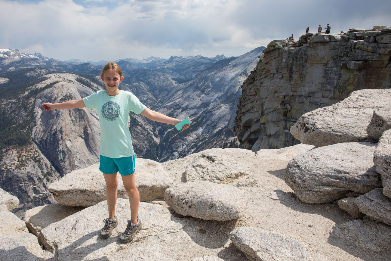 Kara on Half Dome