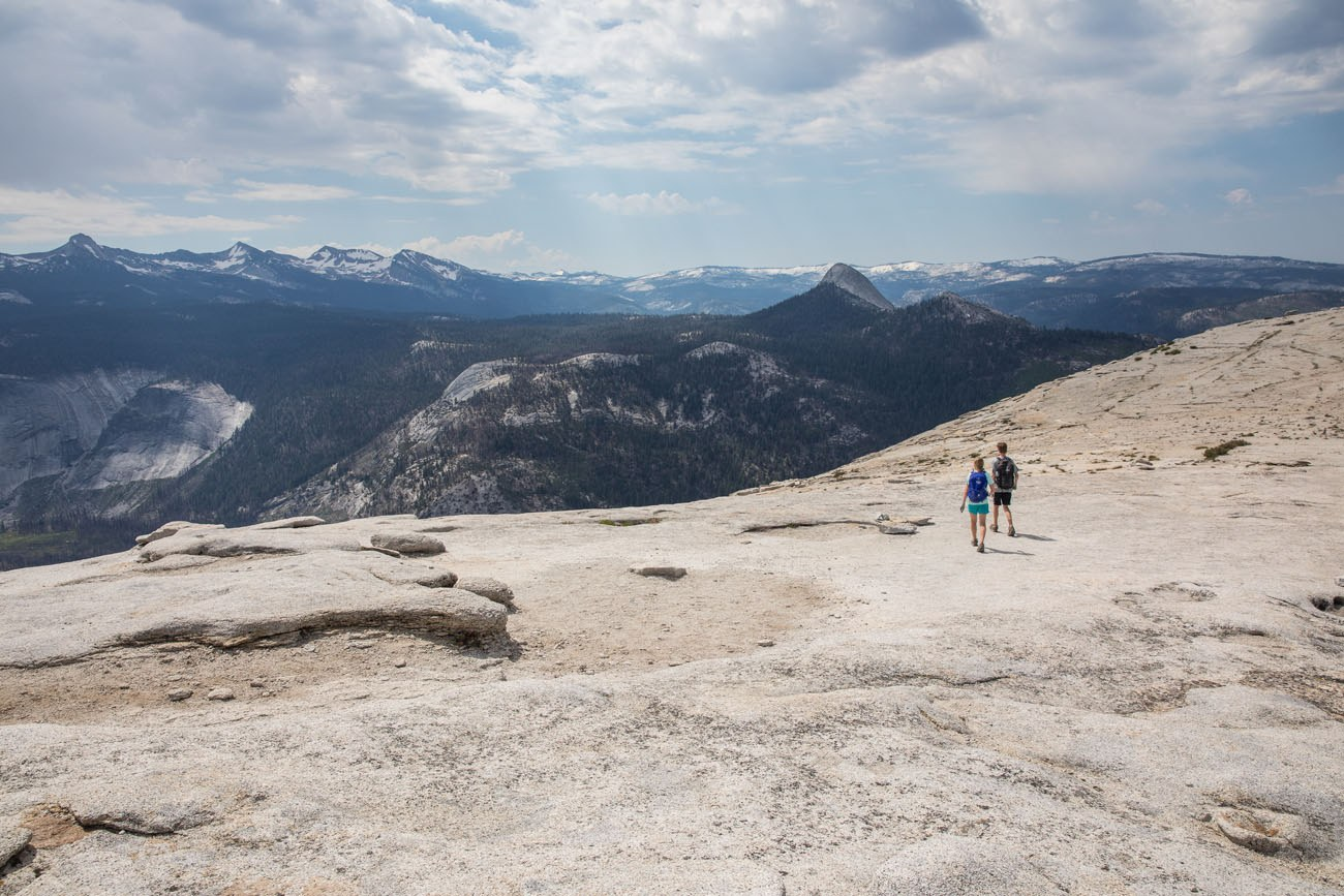 Kids on top of Half Dome