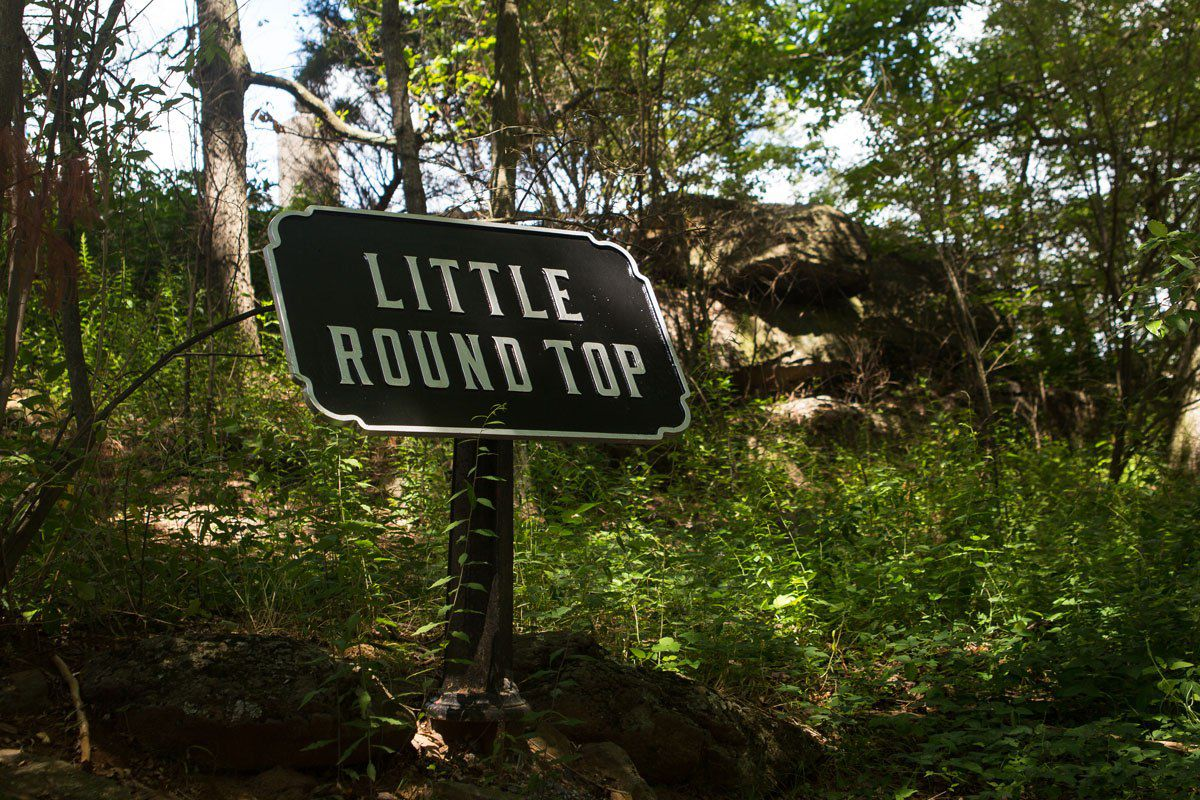 Little Round Top Sign