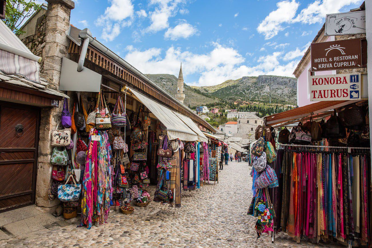 Walking through Mostar
