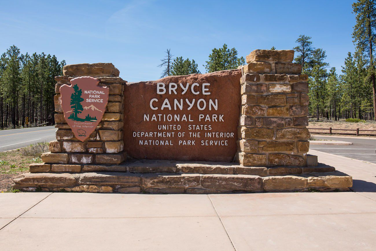 Bryce Canyon sign