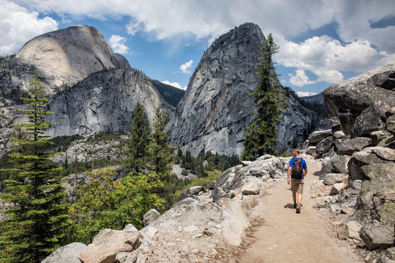 Mist Trail vs  John Muir Trail to Vernal and Nevada Falls