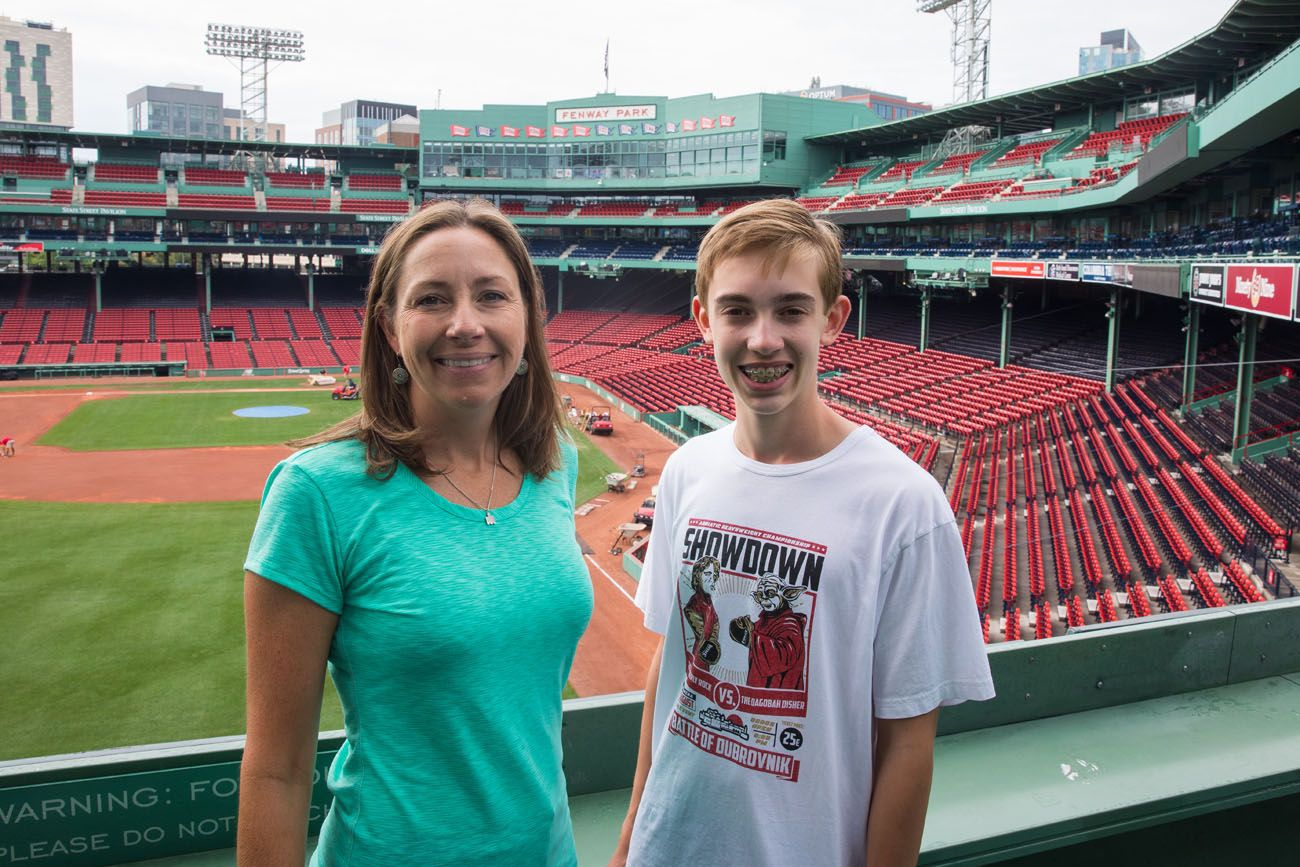 Julie and Tyler at Fenway
