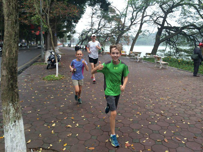 Running in Hanoi