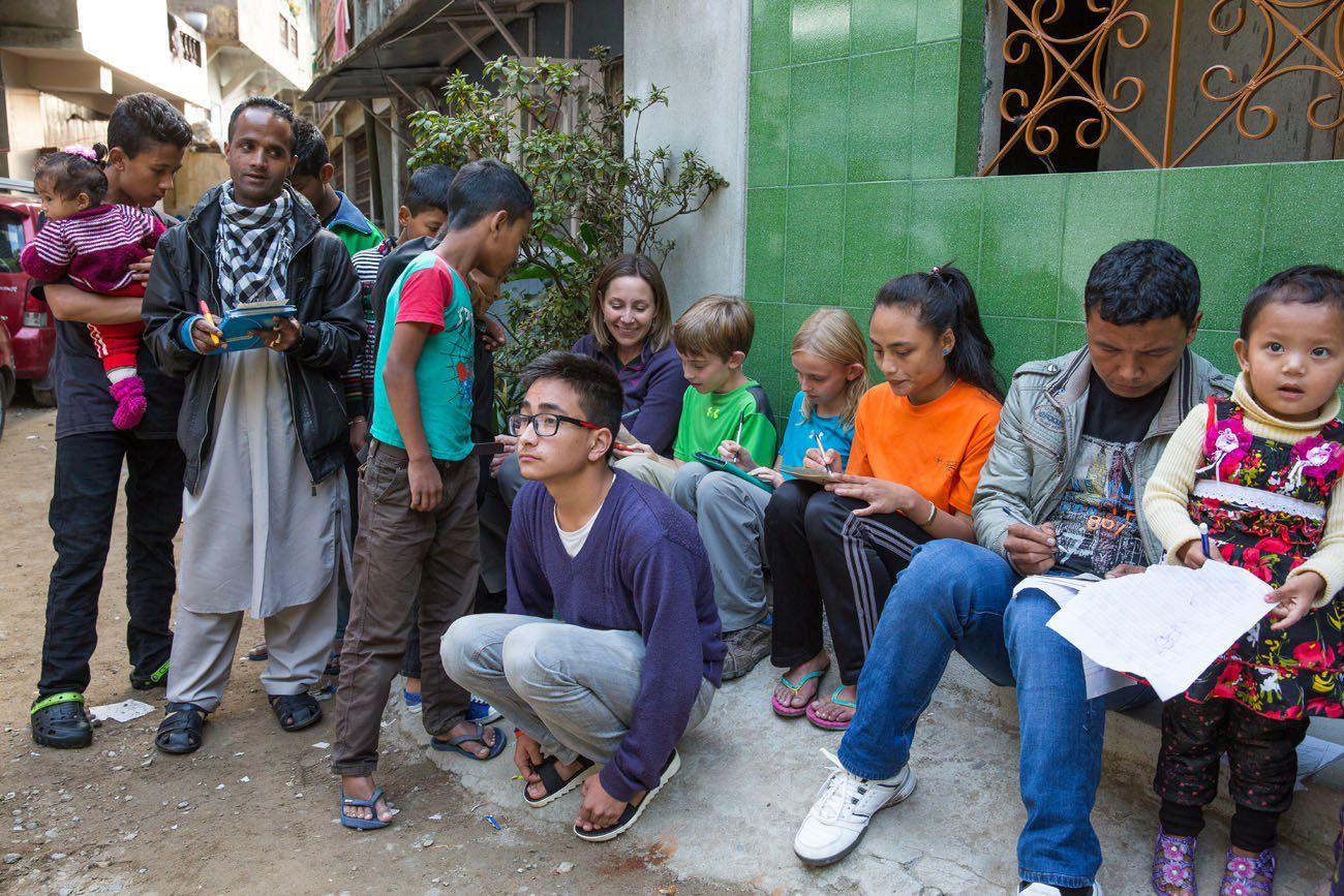 Street Bingo in Darjeeling