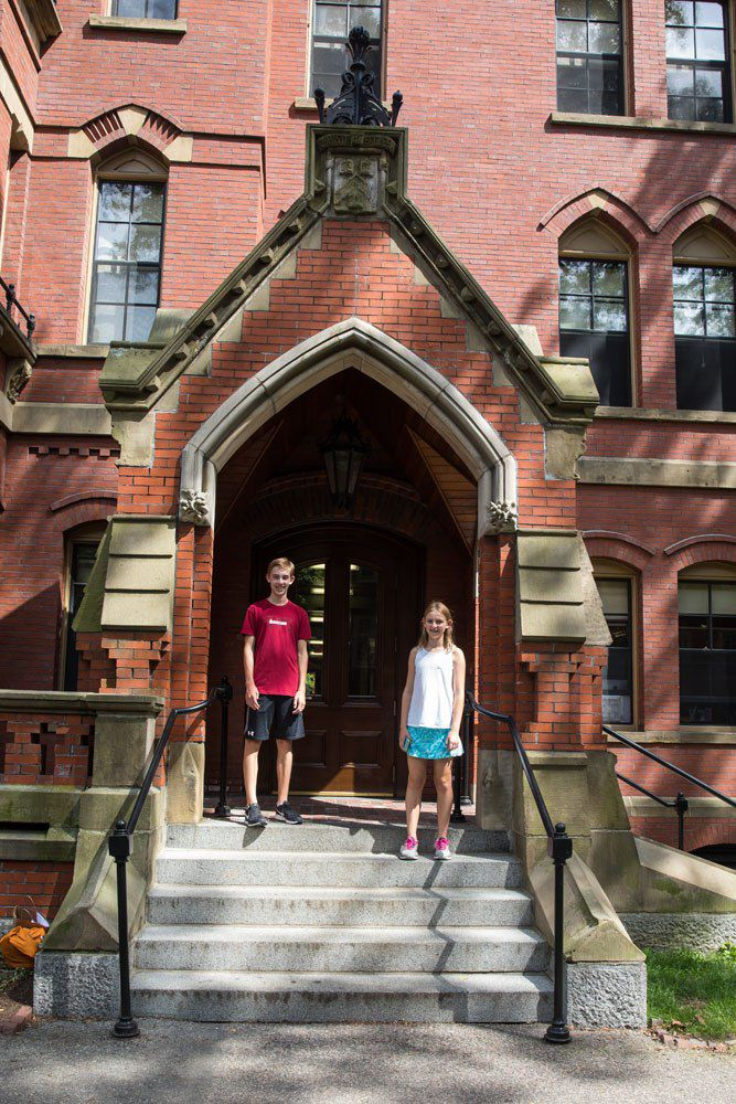 Tyler and Kara at Harvard