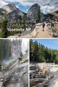 Yosemite Hiking Mist and Muir Trail