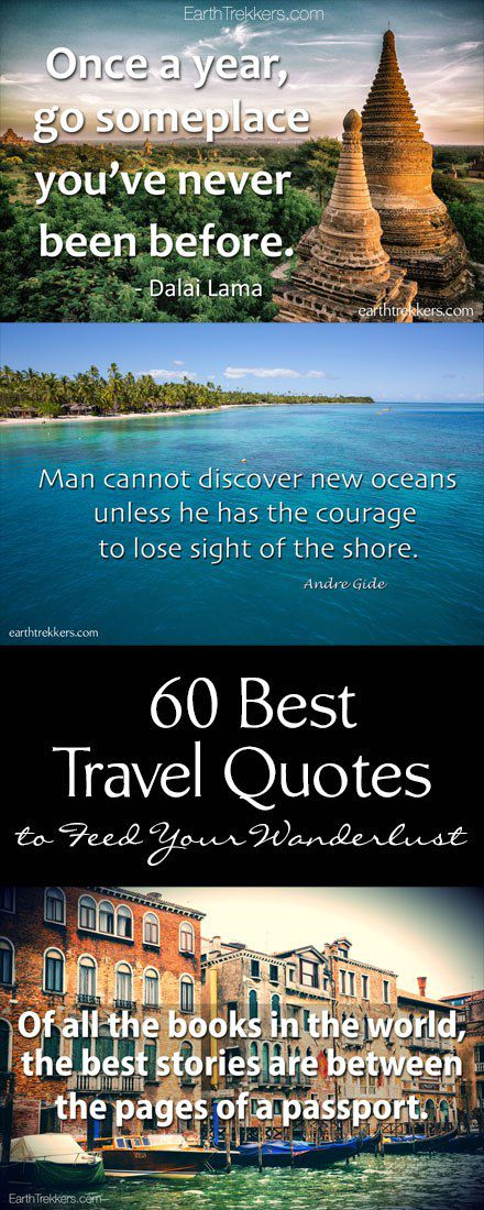 60 Travel Quotes To Feed Your Wanderlust Earth Trekkers Stunning Quotes For Travel