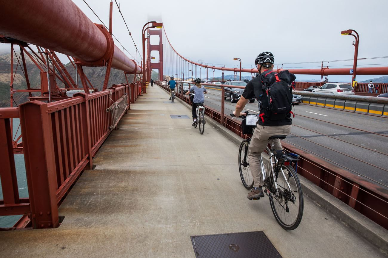 Image result for bycycles on golden gate bridge images