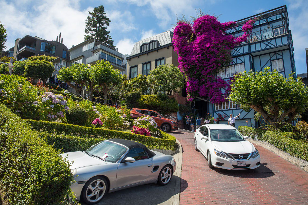 Driving Lombard Street