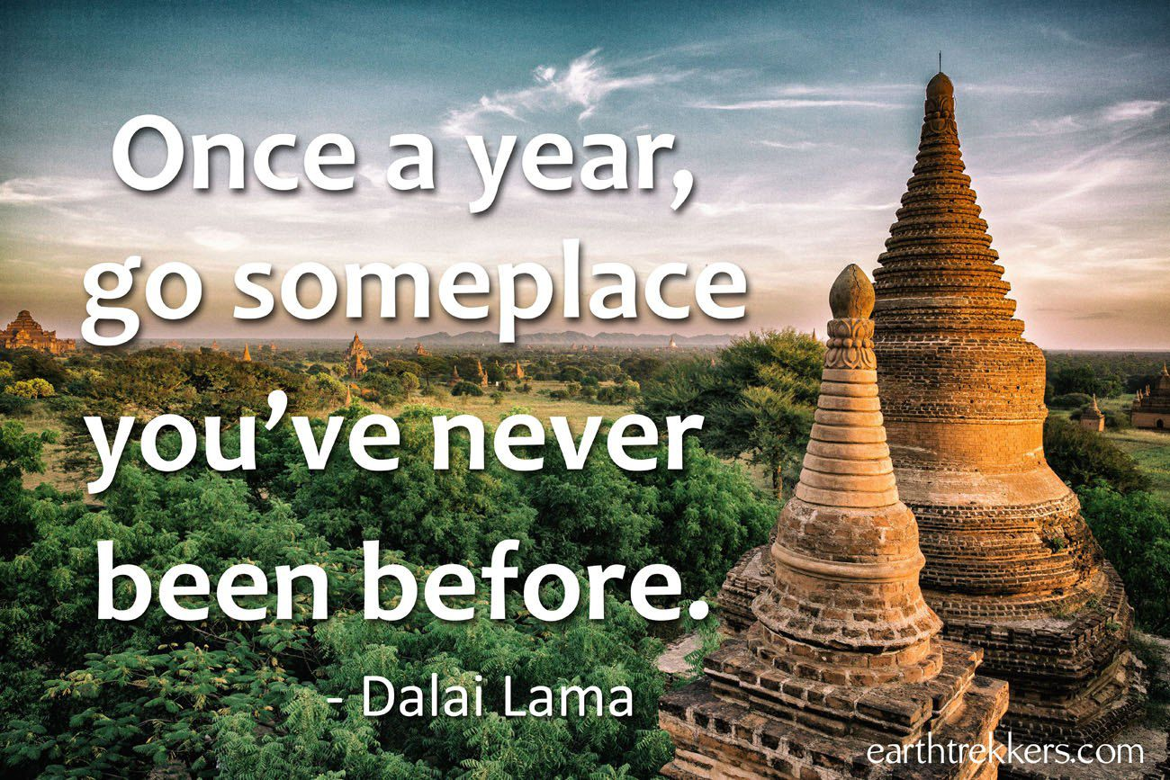 Once A Year Travel Quotes