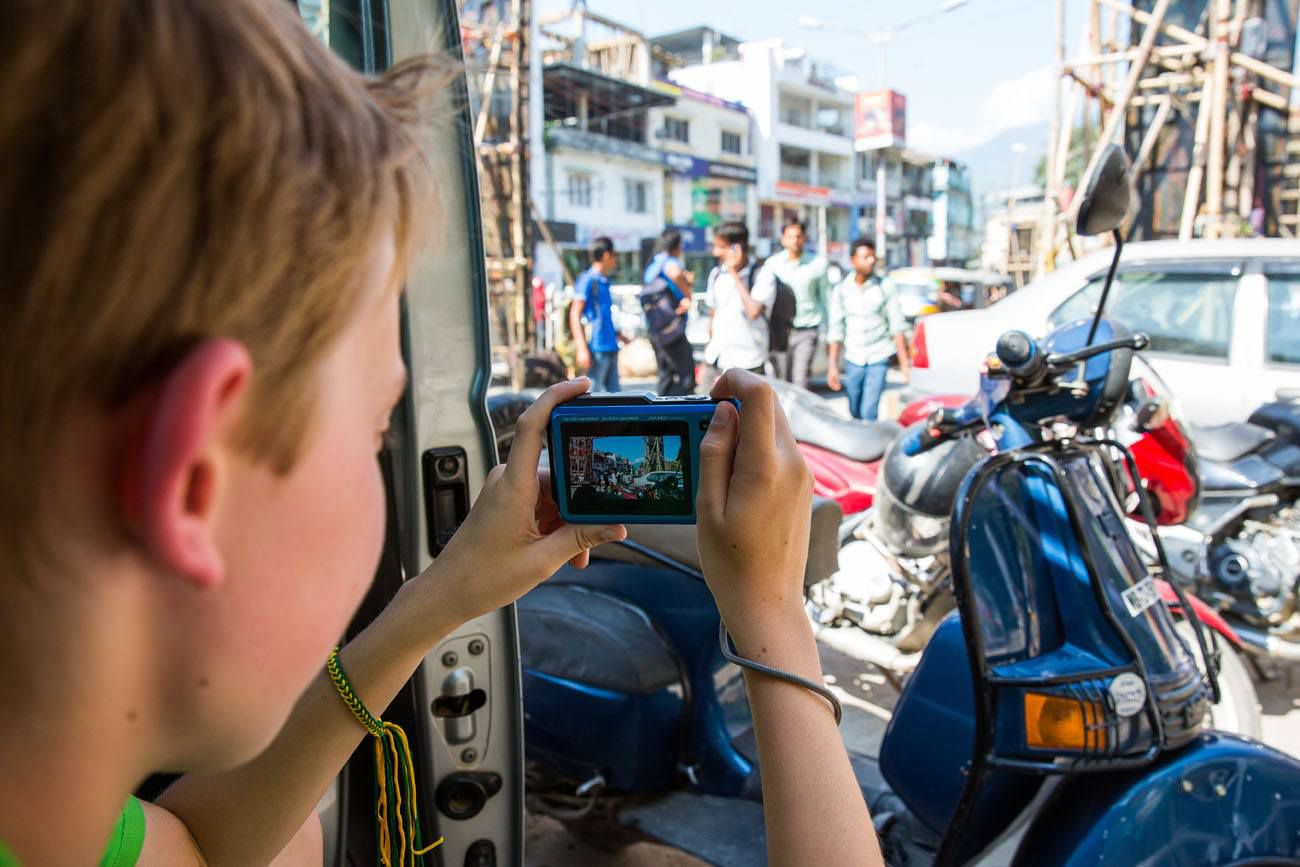Photographing the street