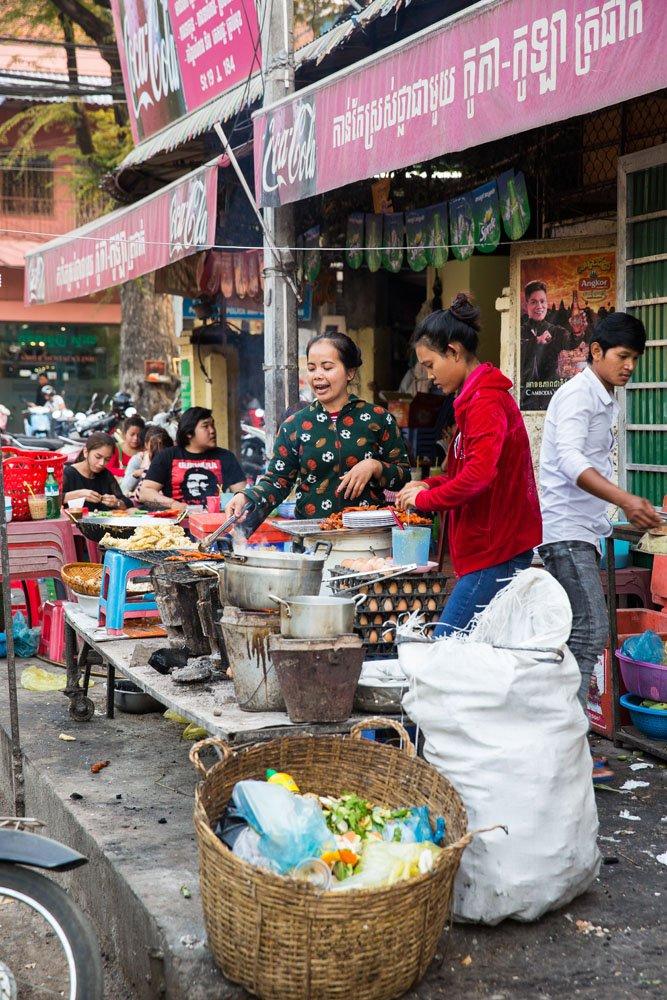 Cooking street food