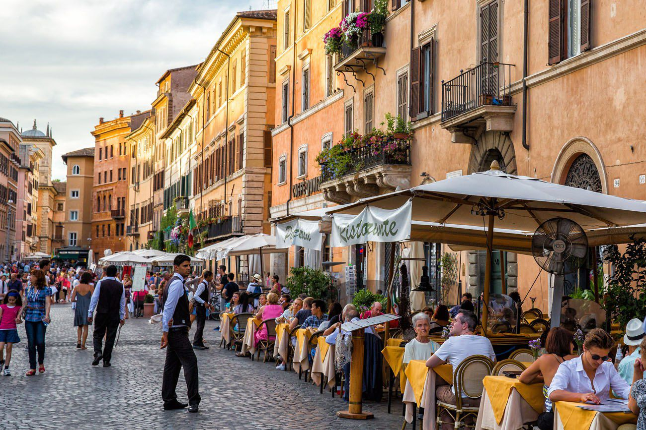 Italian Cafe 2 days in Rome itinerary