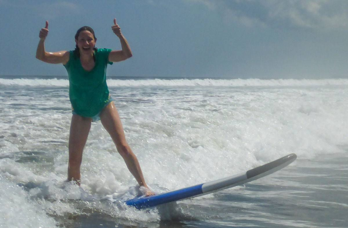 Julie Surfing