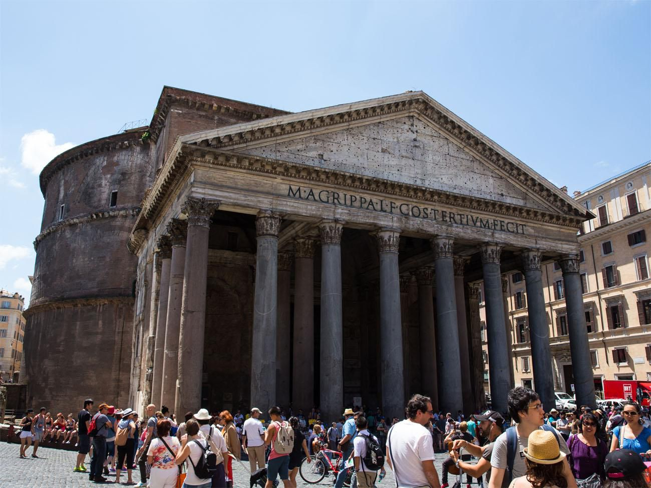 Outside of Pantheon 2 days in Rome itinerary