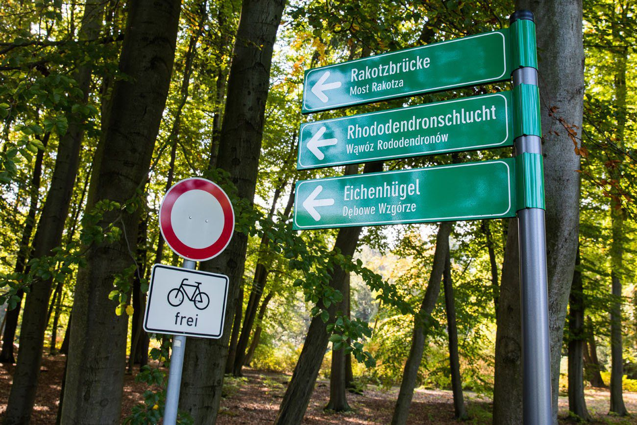 Rakotzbrucke Sign