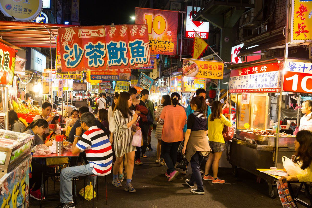 Image result for taiwanese night market eating