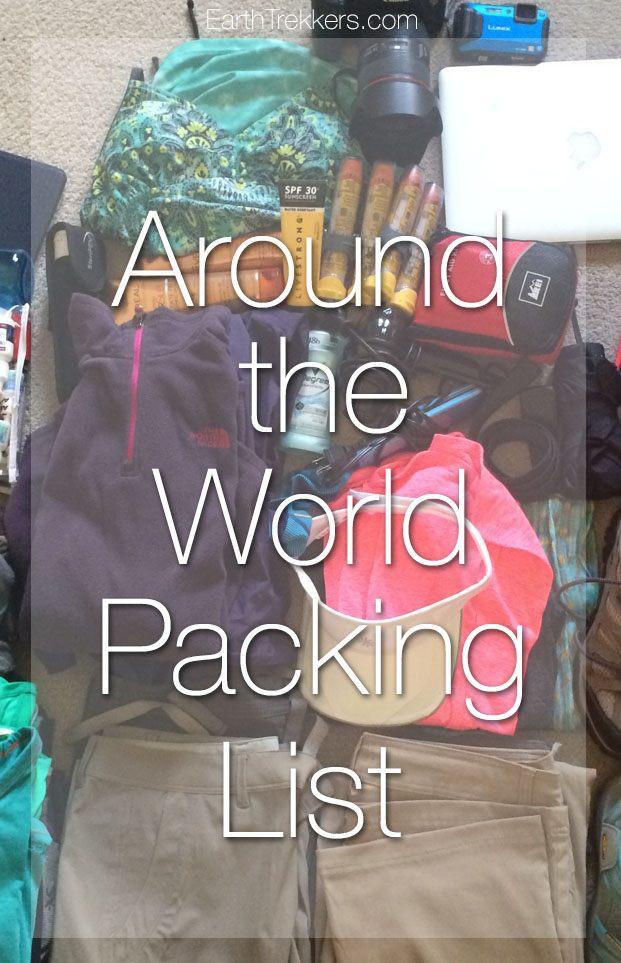 Around the World Packing List