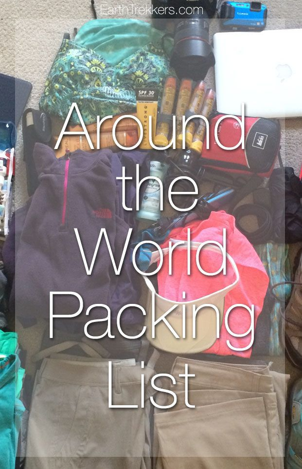 Around the World Packing List