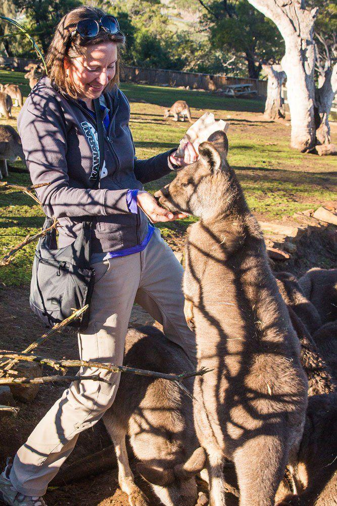 Julie and Kangaroo
