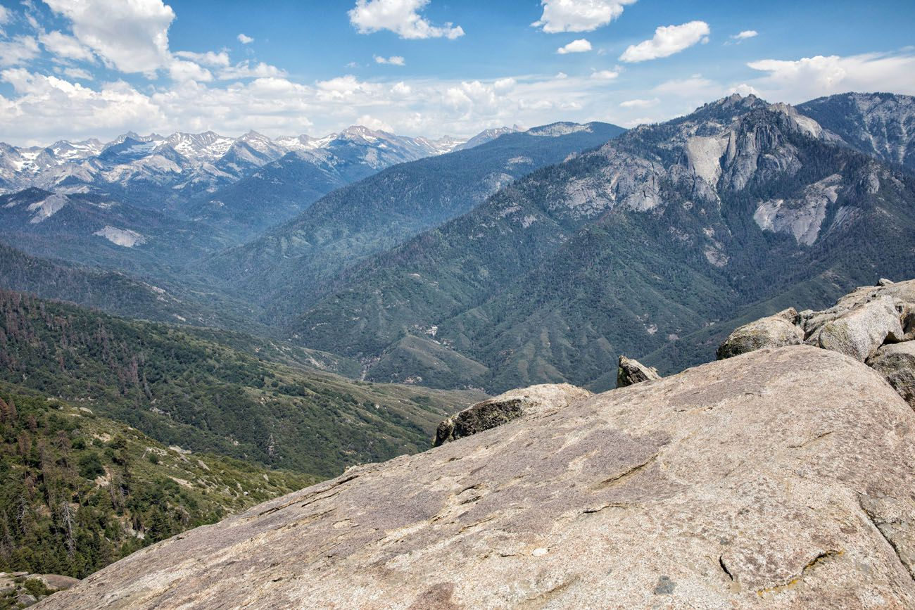 View from Moro Rock Kings Canyon and Sequoia