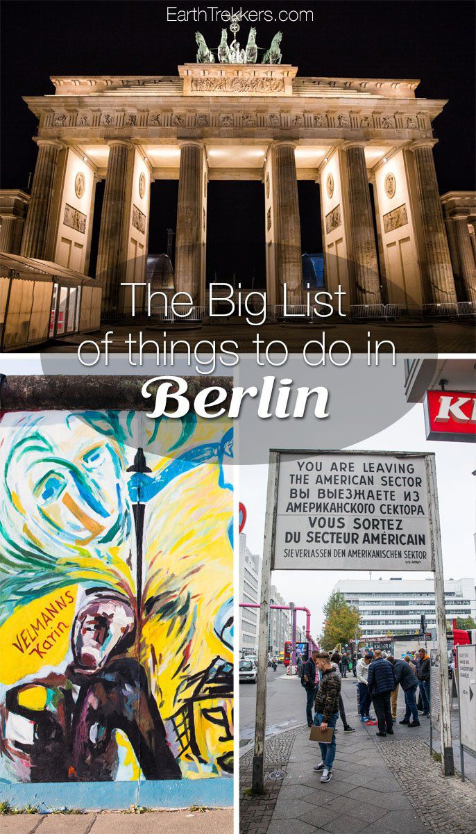 Best things to do in Berlin: Brandenburg Gate, Reichstag, Berlin Wall, Teufelsberg, KaDeWe, and more. #berlin #germany