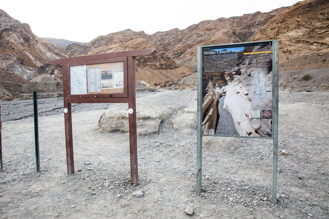 Mosaic Canyon Trailhead