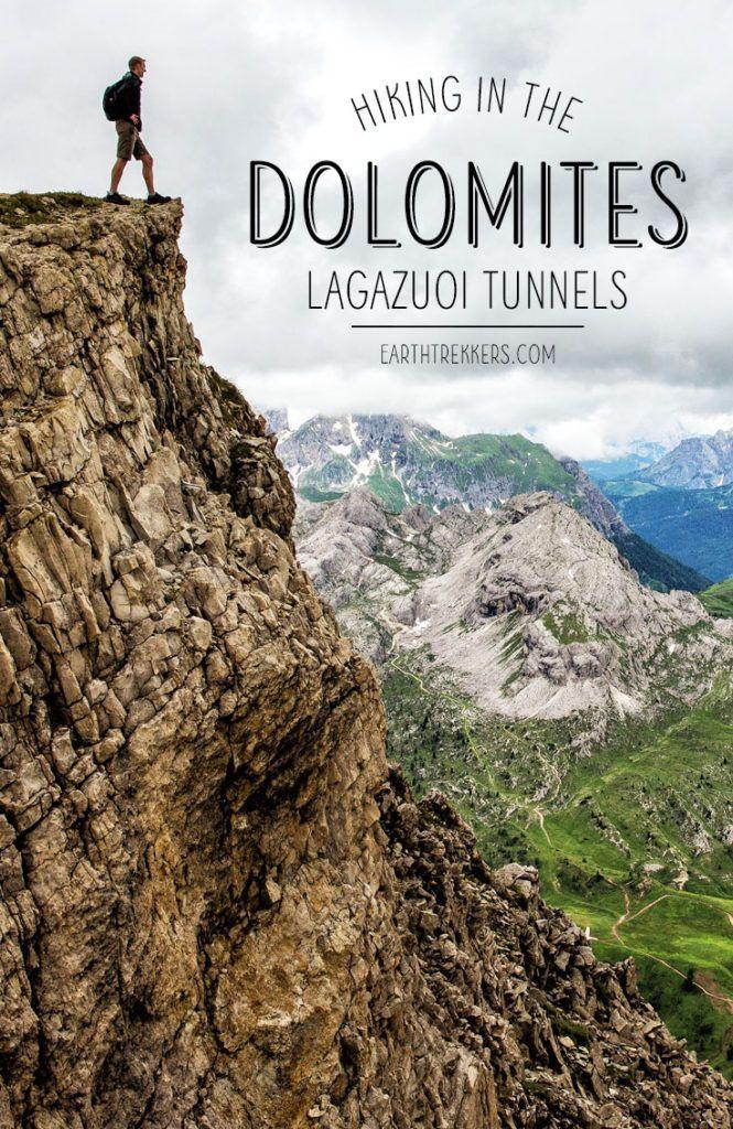 Dolomites Hiking Lagazuoi Tunnels