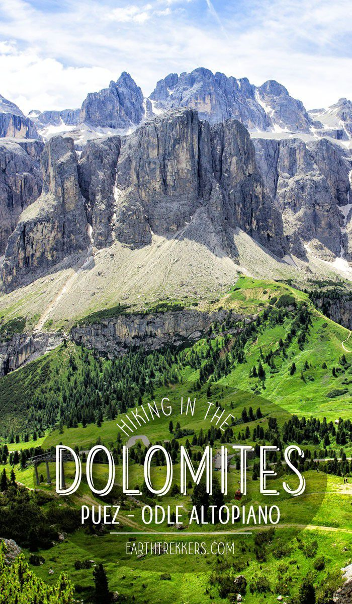 Hiking the Puez-Odle Altopiano in the Dolomites of Italy. #puezodle #dolomites #italy #adventuretravel #hiking