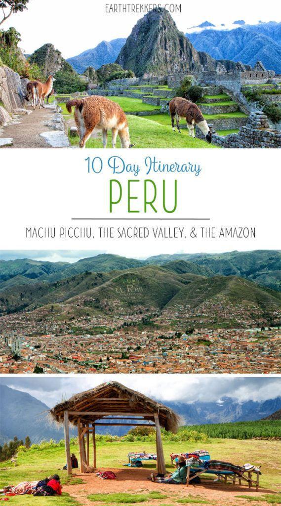 Peru Travel Itinerary Machu Picchu