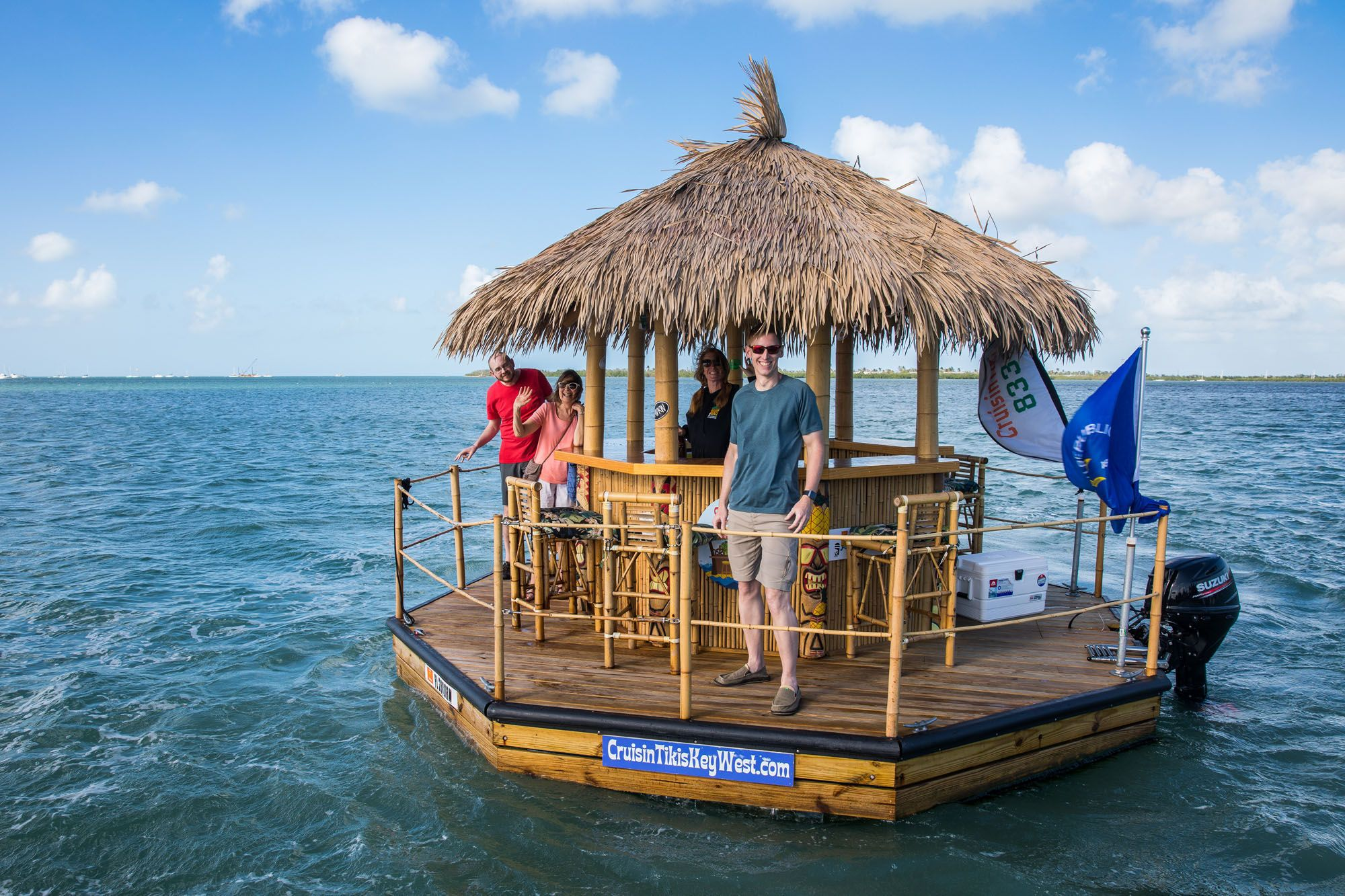 Cruising Around Key West In A Floating Tiki Boat Earth