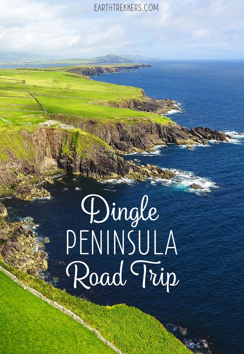 Map Of Ireland Showing Dingle.Driving The Dingle Peninsula Ireland Earth Trekkers