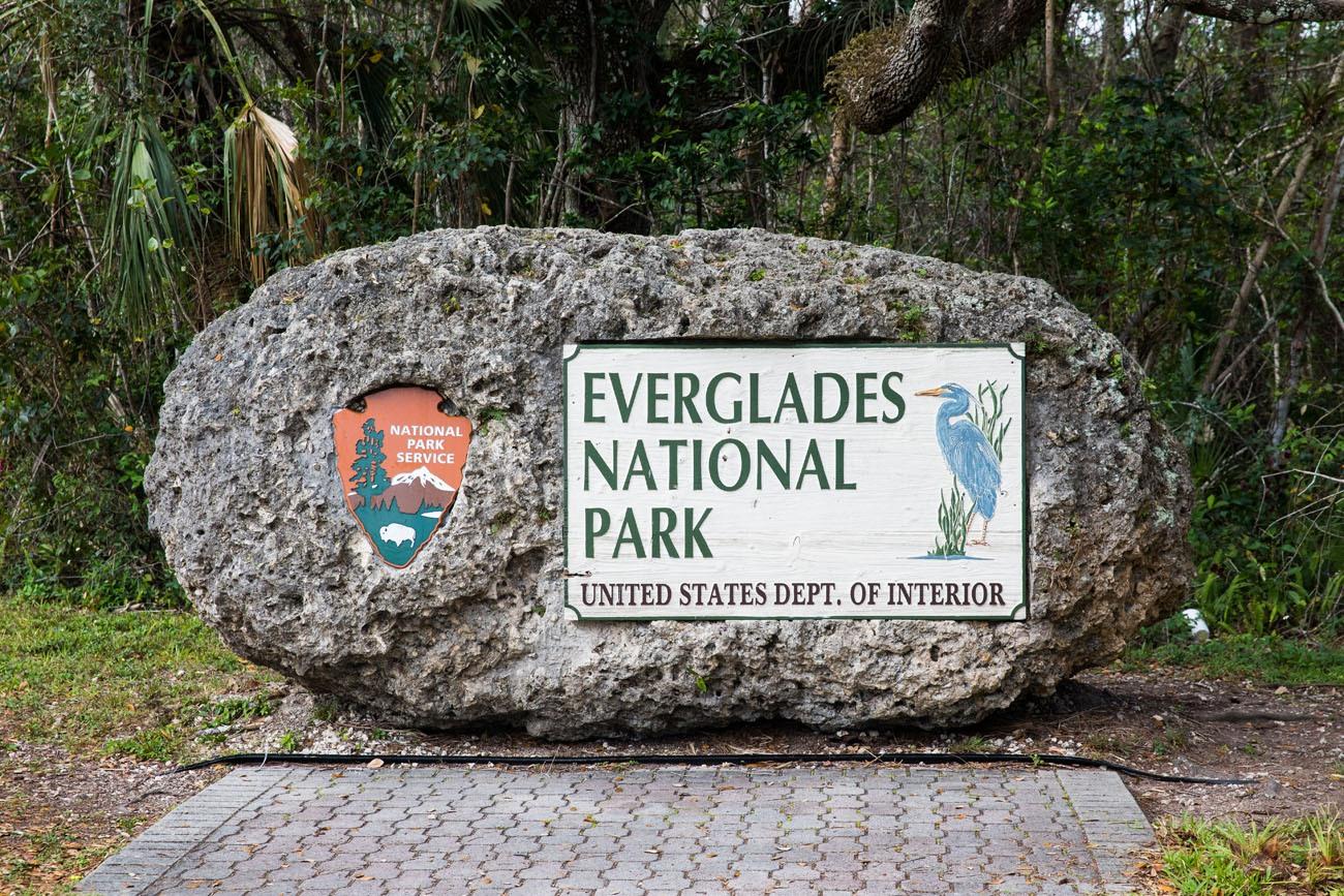 Everglades Park Sign
