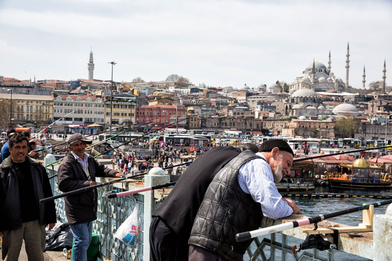 Fisherman Galata Bridge