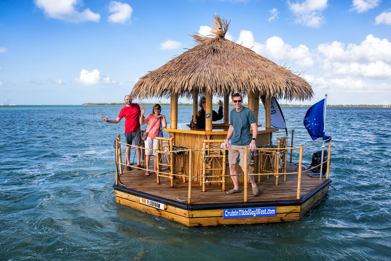Floating Tiki Bar Boat Key West