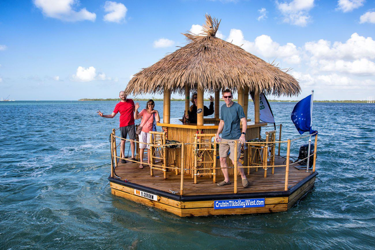 Floating Tiki Bar Boat Key West