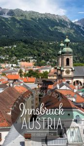 Innsbruck Austria Travel List
