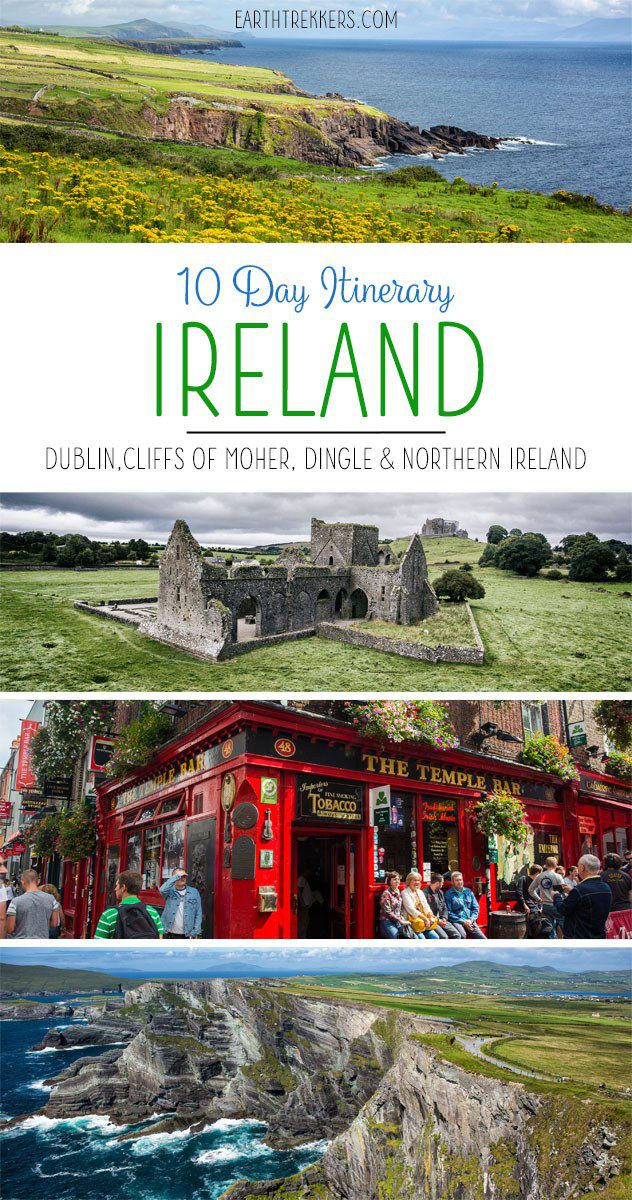 Map Of Ireland For Driving.10 Day Ireland Itinerary The Ultimate Irish Road Trip Earth Trekkers
