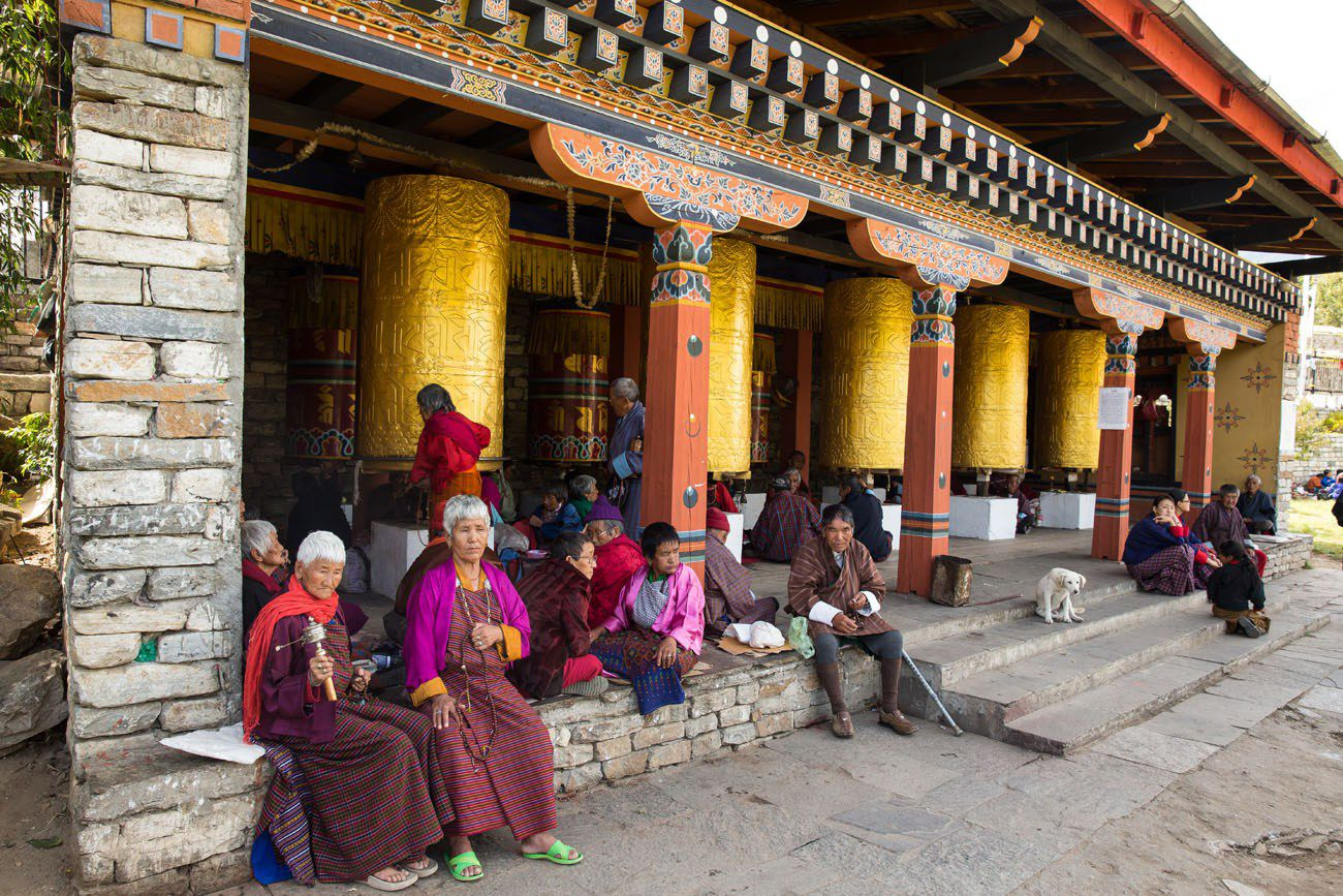 Memorial Chorten Prayer Wheels