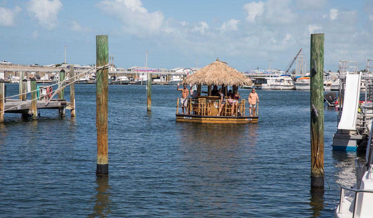 Tiki Boat in Harbor