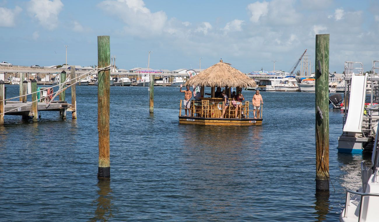 Tiki Boat in Harbor