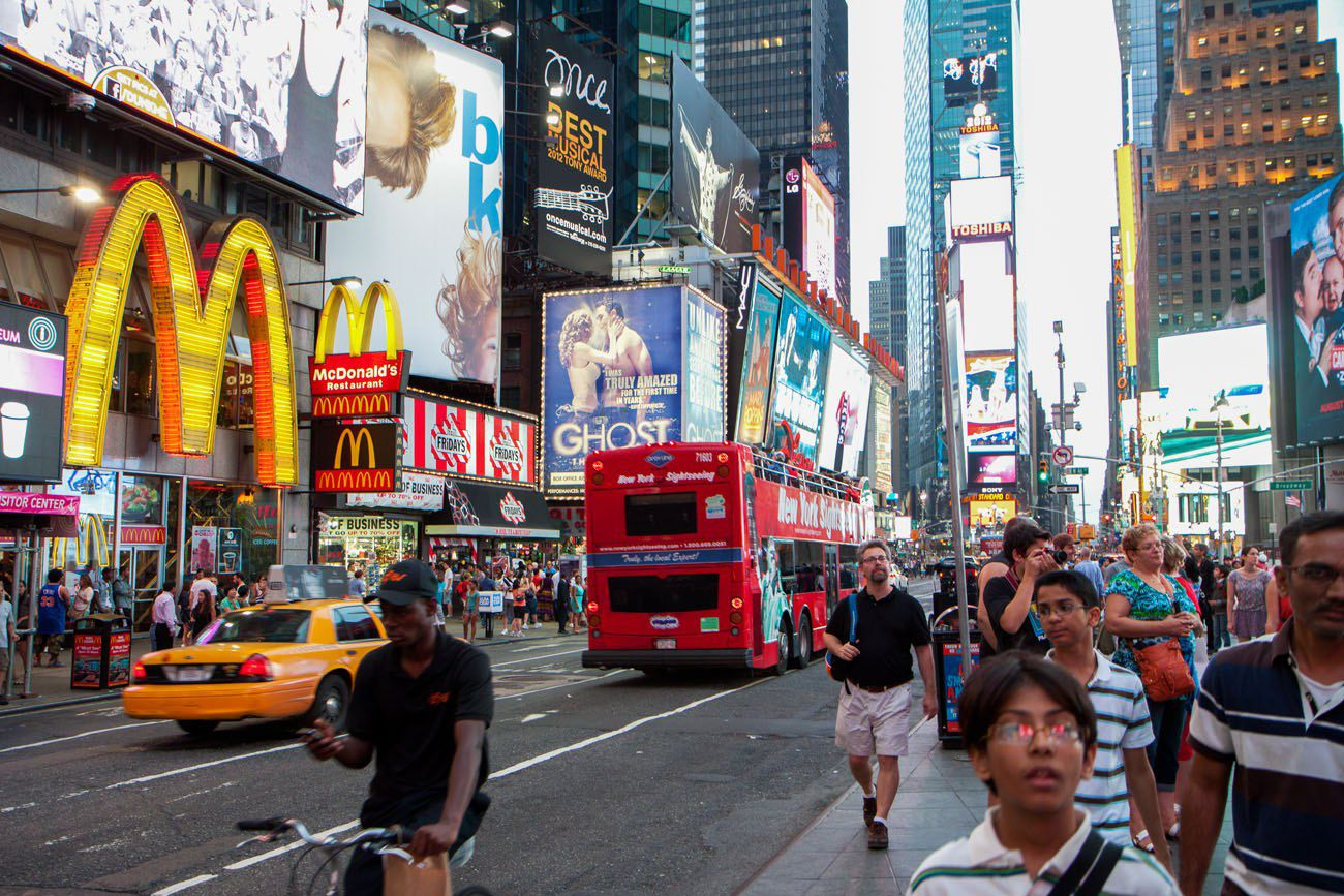 Times Square New York City itinerary