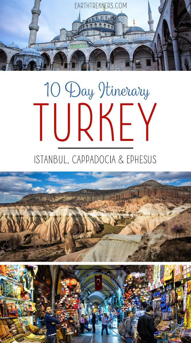 Turkey Travel Itinerary with Istanbul Cappadocia