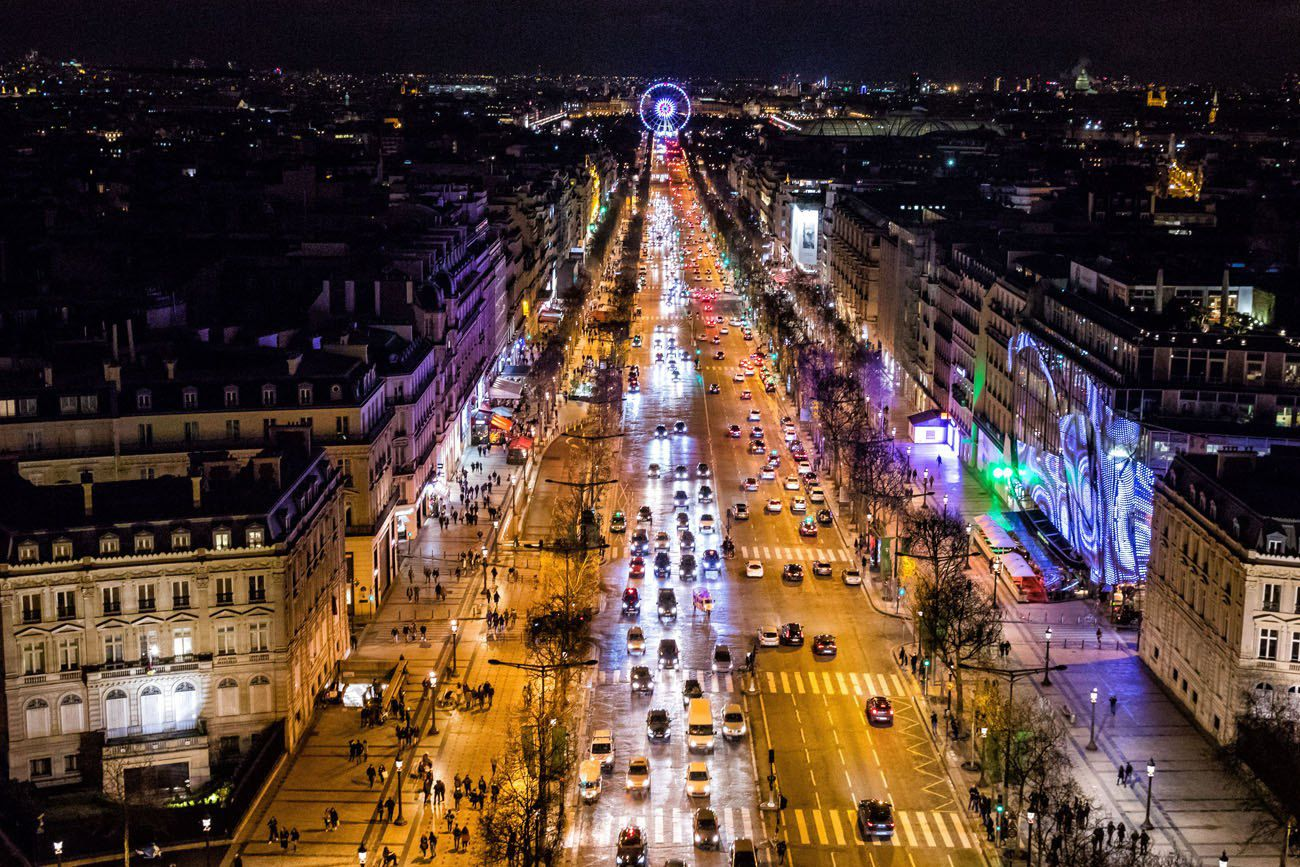 Arc de Triomphe at Night Paris itinerary