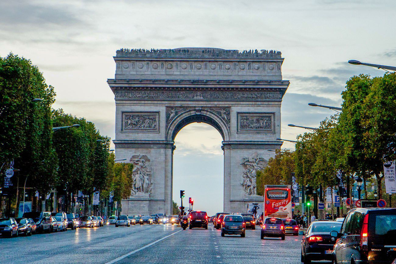 Champs Elysees Paris itinerary