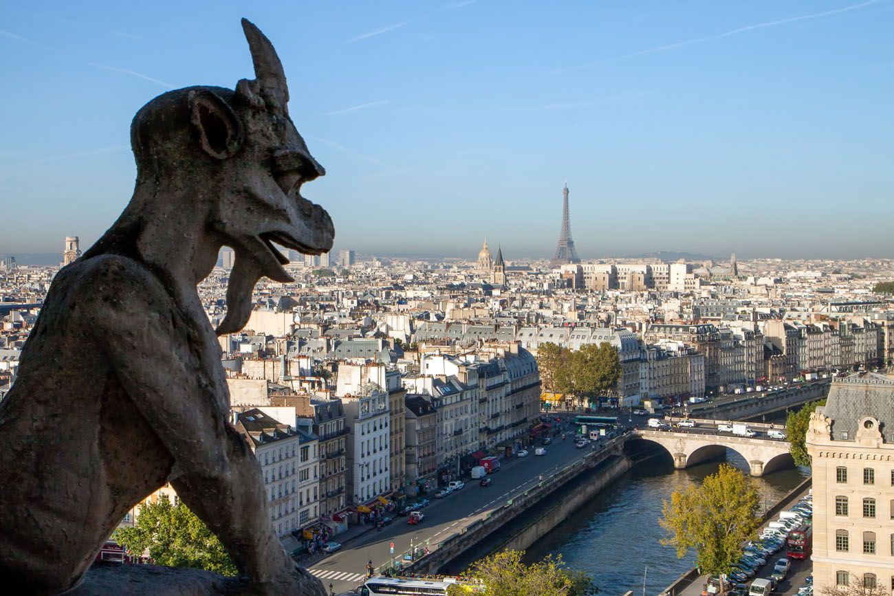 Gargoyle View London Paris itinerary