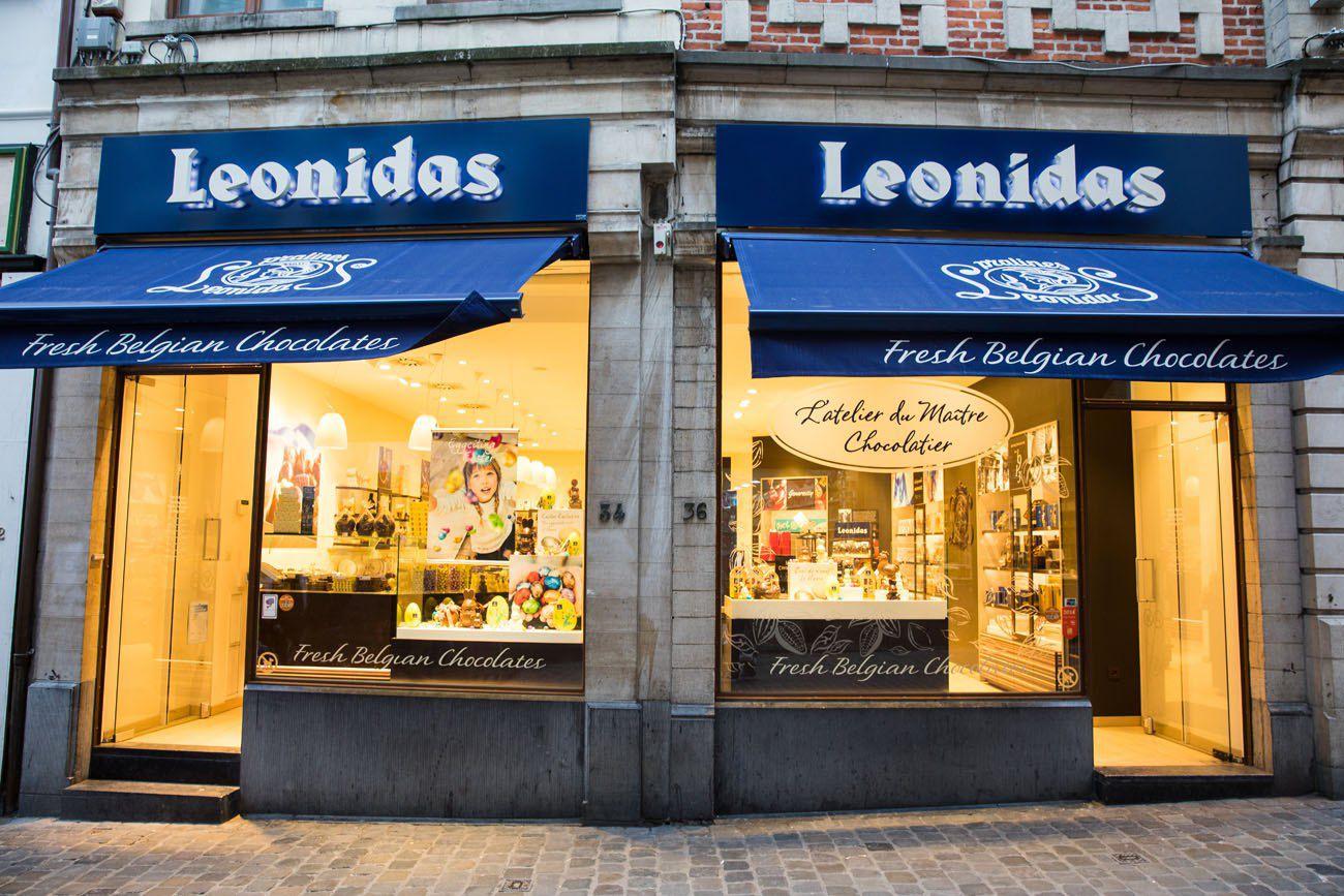 Leonidas Brussels chocolate tour