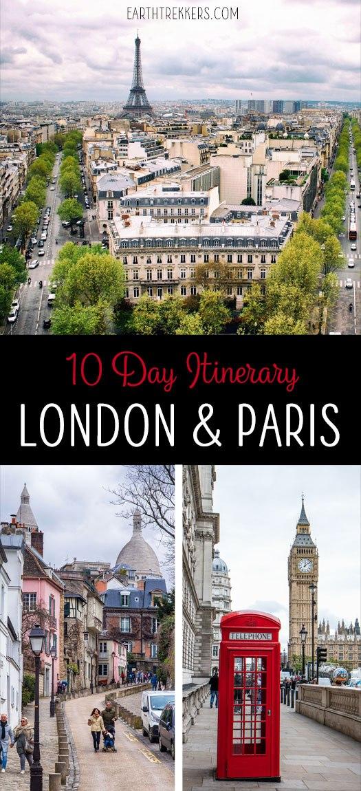 London Paris 10 Day Travel Itinerary